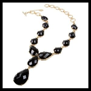 Amrita Singh Teardrop Necklace Jet Black